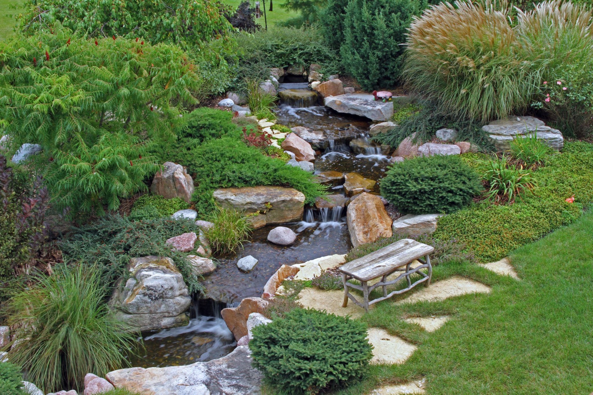 Pondless Waterfall Installation - Ponds by BEE on Front Yard Waterfall Ideas id=78727